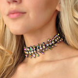 Boho Multicolored Crystal Choker