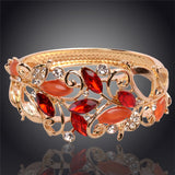 Gold Plated Austrian Crystal Bangle Bracelets