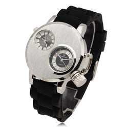 Men Dual Quartz Movement Sport Watches