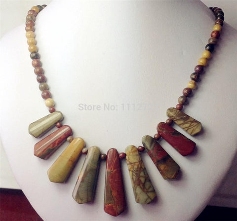 Women's Chalcedony Semi Finished Stones Balls Necklace