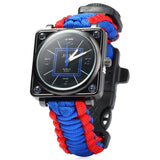 Outdoor  Parachute Cord Survival Watches