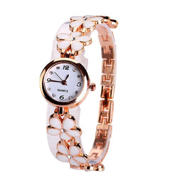Ladies Daisies Flower  Bracelet Wristwatches