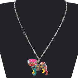 Pug Dog Metal Alloy Necklaces