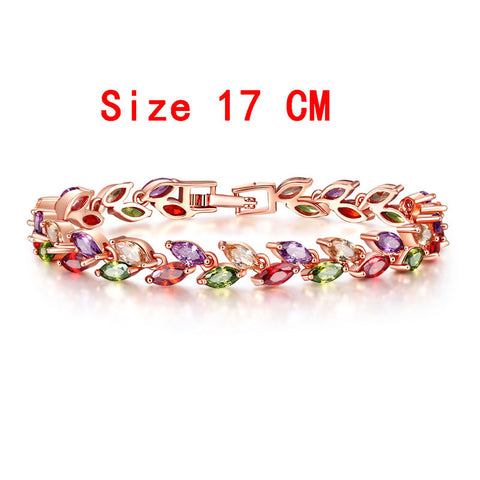 Ladies Colorful Cubic Zirconia Bracelet