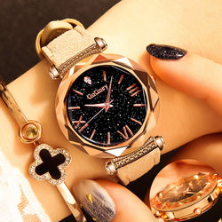 Crystal  Rose Gold Quartz Wrist Watches