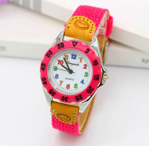 Children's Fabric Strap Wristwatch