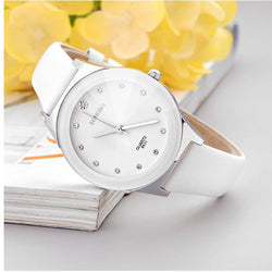 Luxury White Ceramic Wrist Watch  Free Shipping