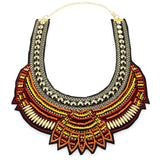 Women's Multicolor Bib Collar Chokers