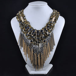 Women Gold Rivet Necklaces