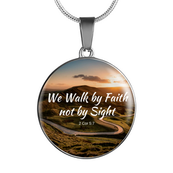 We Walk faith Necklace