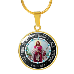 The Lord Is My Shepherd Gold Necklaces