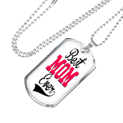 Best Mom Military Necklace
