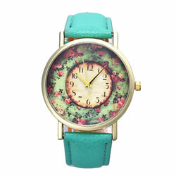 Girls Floral Printed Quartz Watches