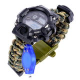 Men's Paracord Digital Survival Watches