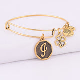 Ancient Gold Plated Expandable A-Z Bracelet