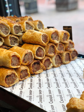 Organic Pork, Chorizo and fresh basil Sausage Roll