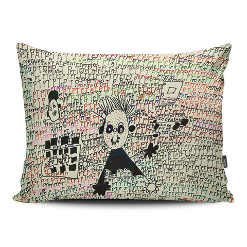 Squiggle Bus Pillow