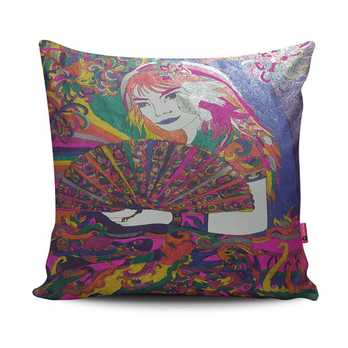 Fan Lady Pillow