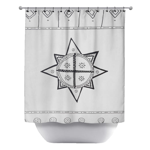 A Rising Sun Shower Curtain