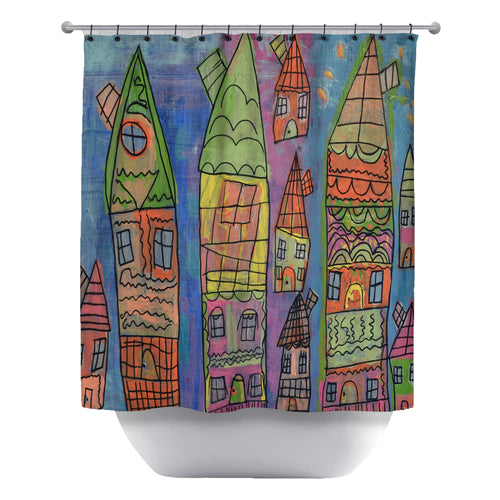 Candy Coated Capital Shower Curtain