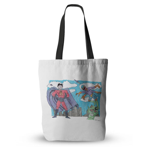 Captain Atmo and Dragonfly Tote Bag