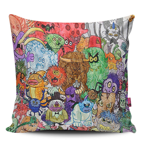 Mini Monsters Pillow