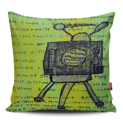 Old Days Television Pillow