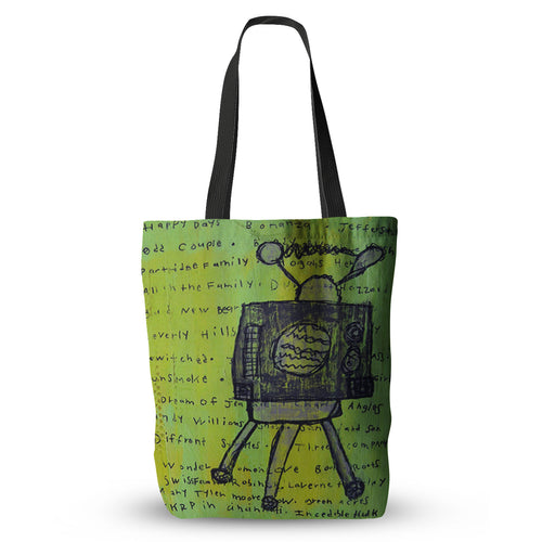 Old Days Television Tote Bag