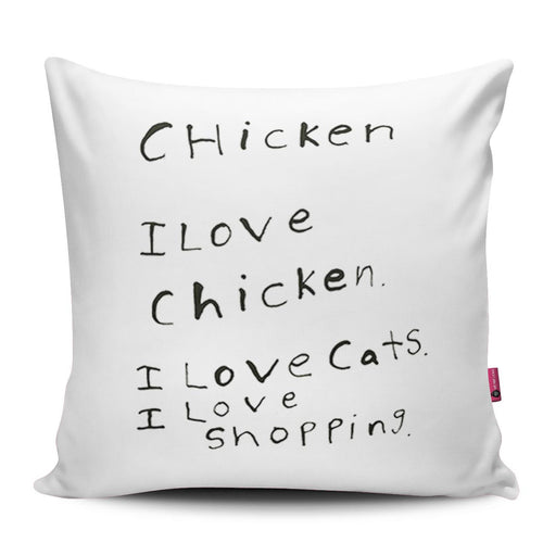 I Love Chicken Pillow