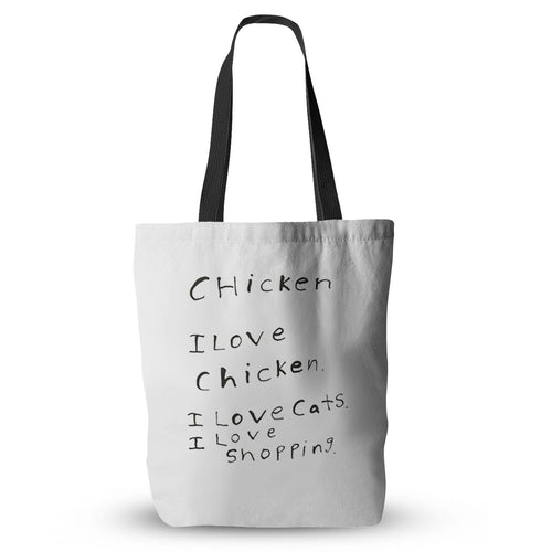 I Love Chicken Tote Bag