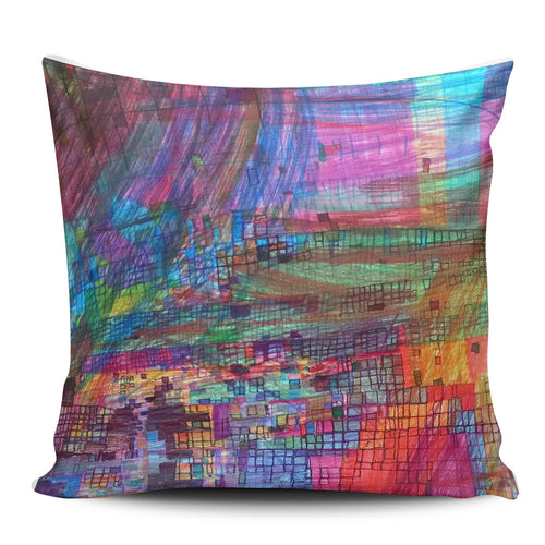 Rainbow Boxes Pillow