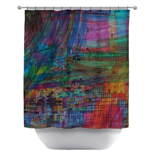 Rainbow Boxes Shower Curtain