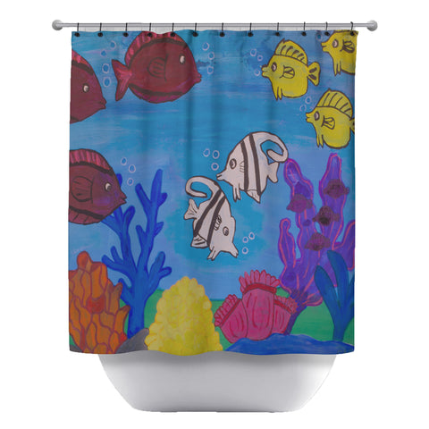 Blue Meanie's Brains Shower Curtain