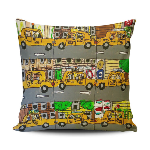 9 Taxis Pillow