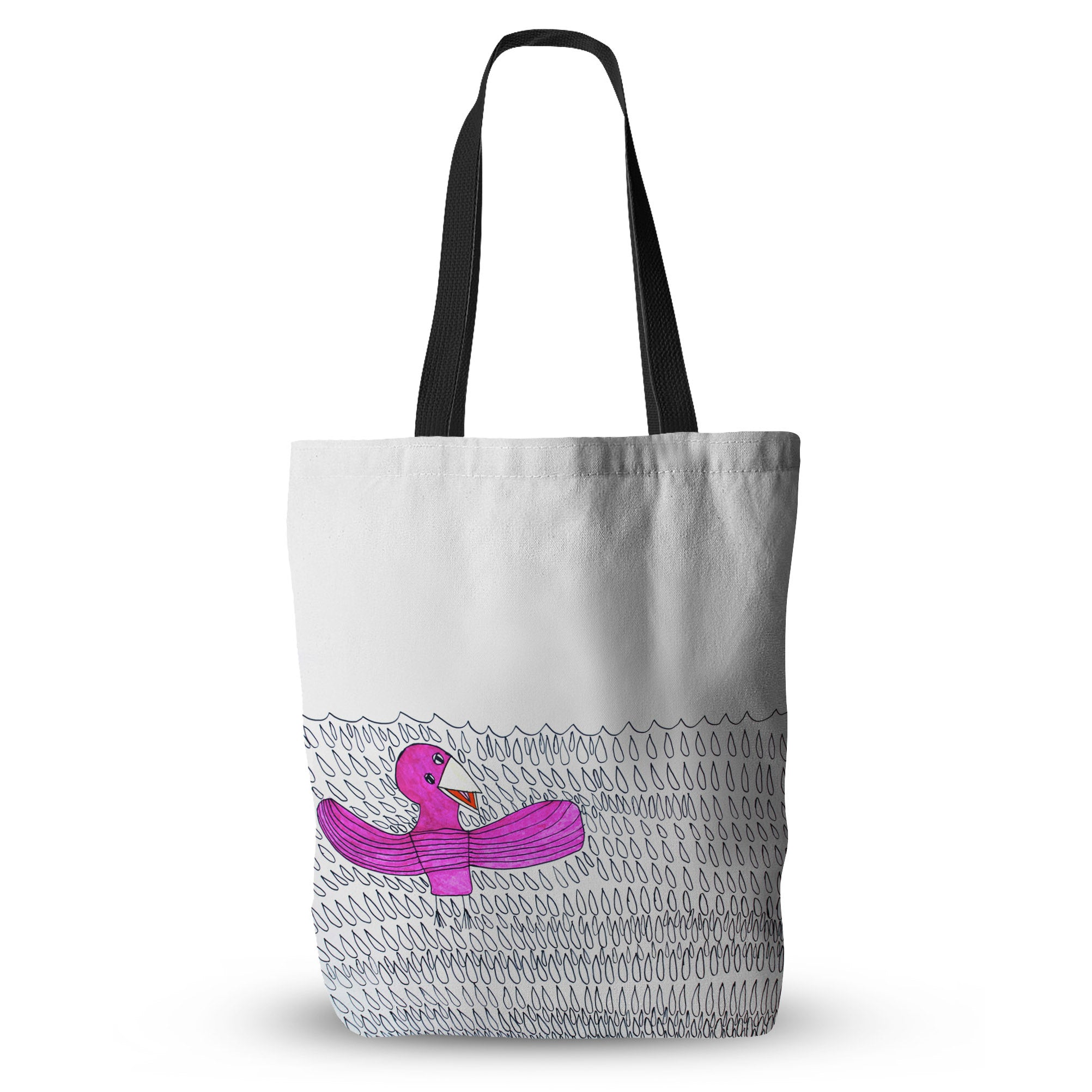 Robin in the Rain Tote Bag