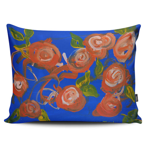 Blue Roses Pillow