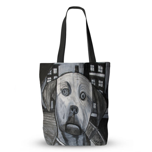 Black and White Dog Tote Bag