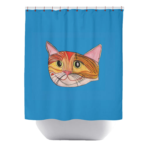 Windy City Pussy Shower Curtain