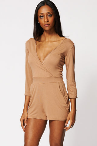 Casual Cross Over Tie Playsuit