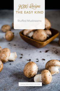 The easiest stuffed mushrooms EVER!