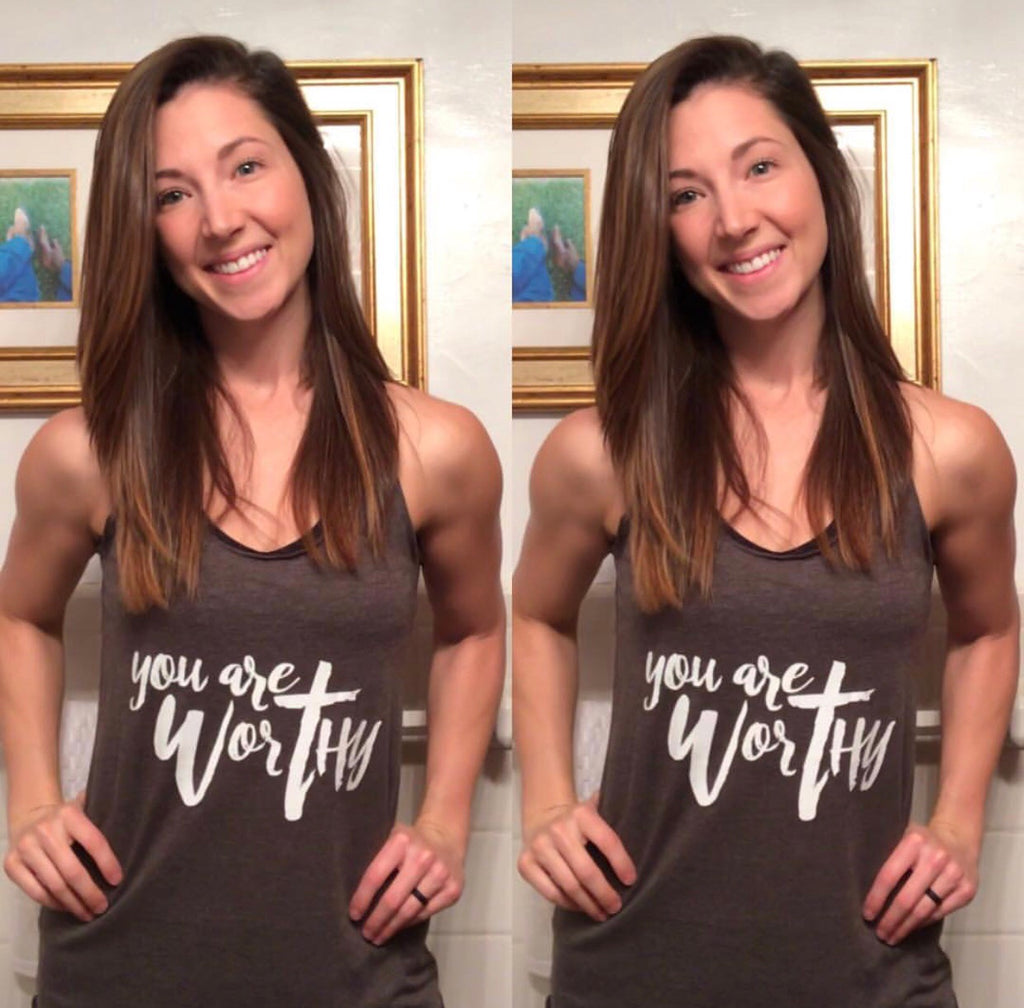 Women's Worthy Workout Tank - You are Worthy Lifestyle