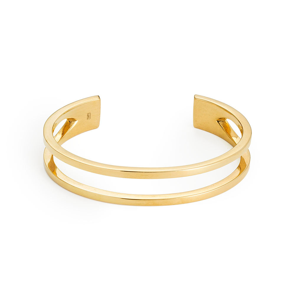 Tower Cuff - Yellow Gold