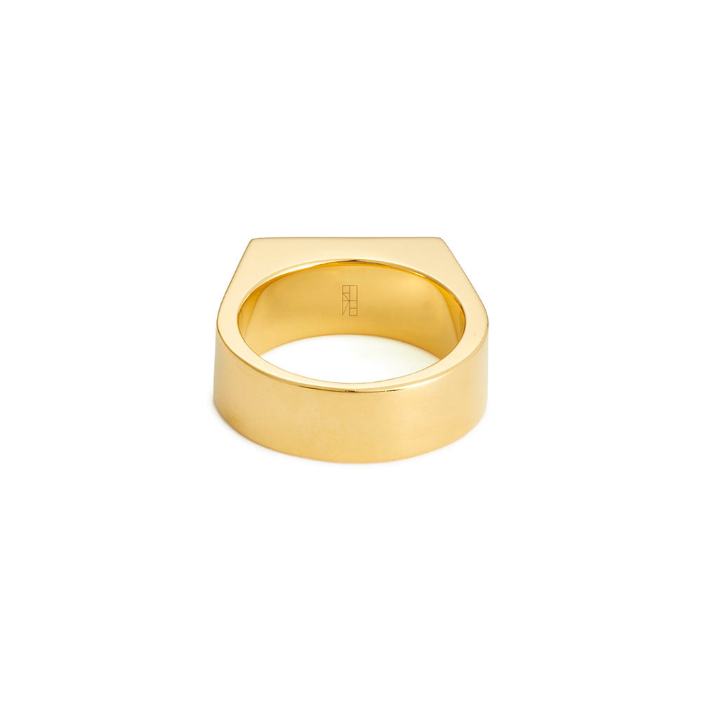 Tapered Deck Ring - Yellow Gold