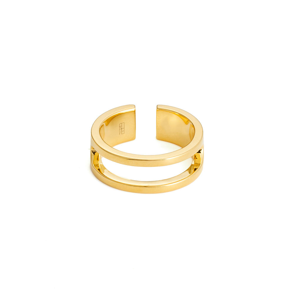 Tower Ring - Yellow Gold