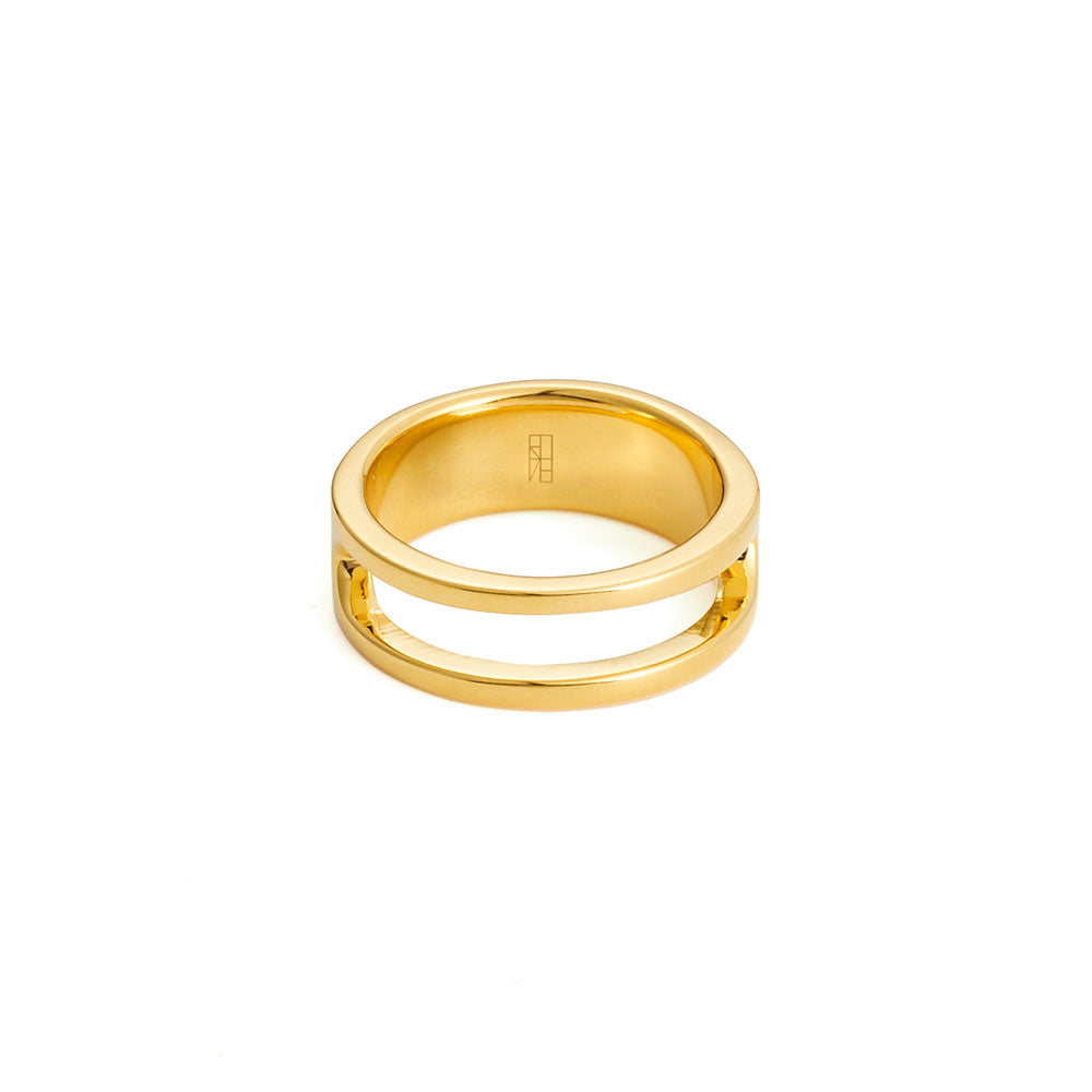 Lancet Ring - Yellow Gold