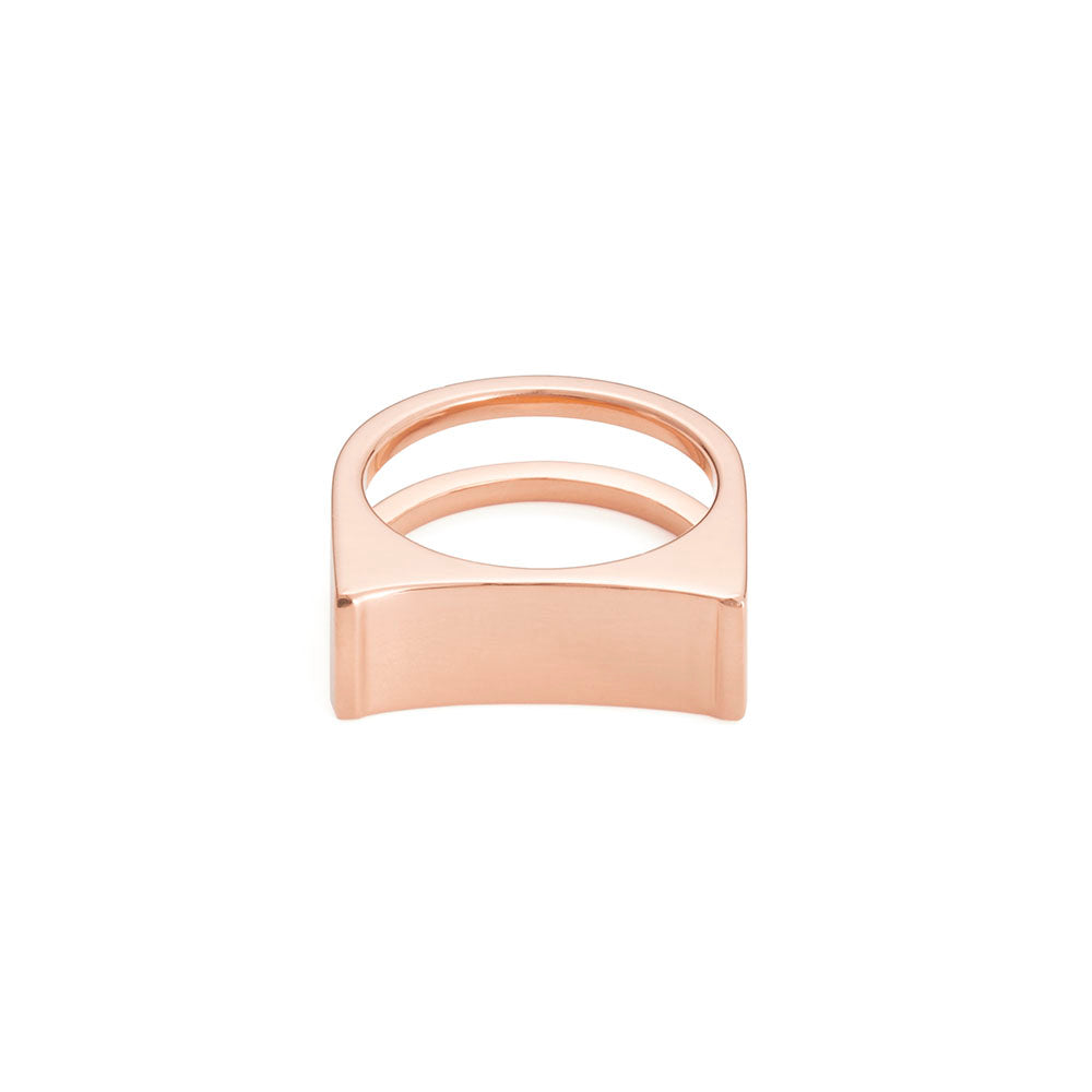 Cable Ring - Rose Gold