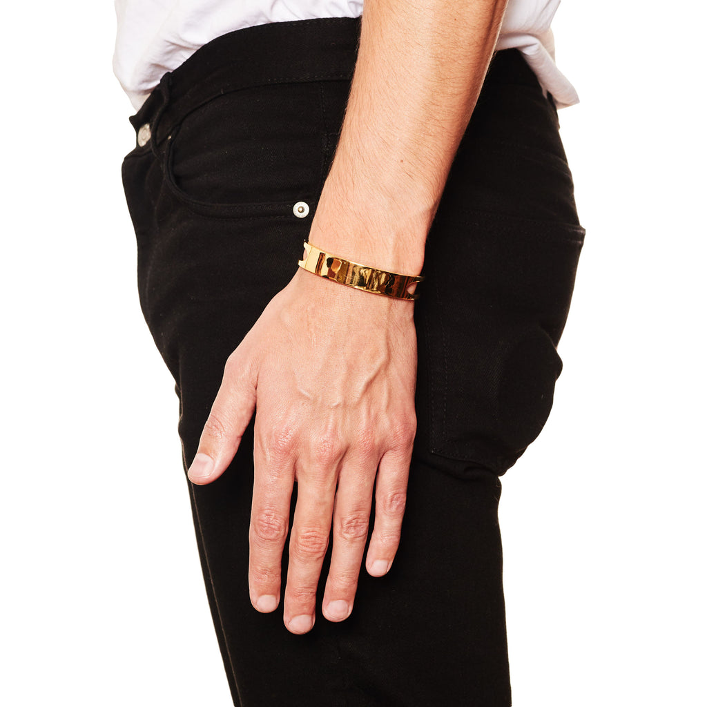 Lancet Cuff - Yellow Gold