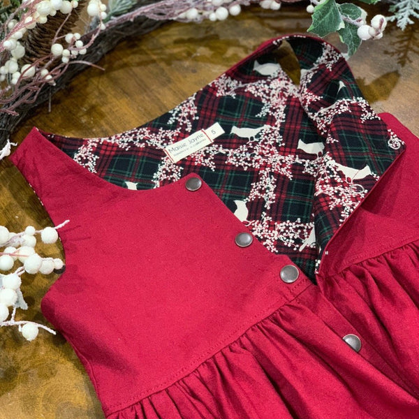 Cranberry Linen Holiday Jumper