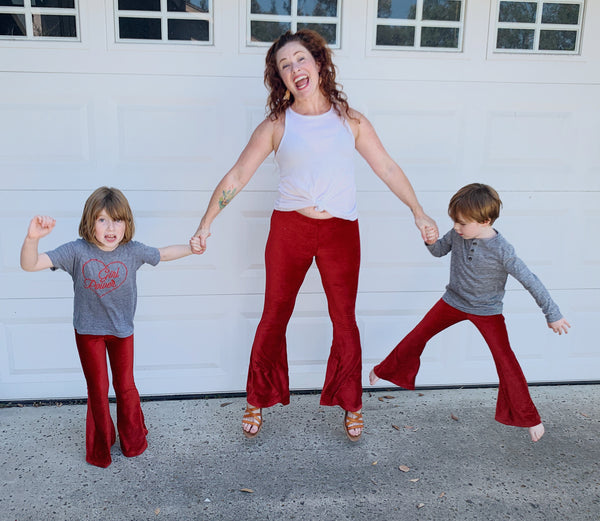Women's Ruby Velvet Corduroy Bell Bottoms