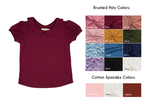 Collared Knit Blouse (Sizes 6 through 12)